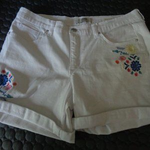 Embroidered BESTIE Shorts Vintage America Blues 10